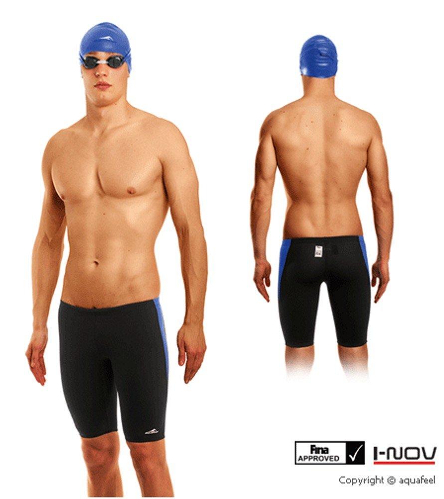 AquaFeeL Gr. 3 blau schwarz Herren Badehose Jammer Schwimmhose FINA