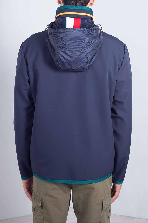 Tommy Hilfiger Uomo - Giubbotto Tecnico in Nylon Blu con Zip Taglia M   Amazon.it  Abbigliamento bfac77e16e3