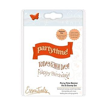 Tonic Studios Banner Die Stempel Einstellen Partyzeit Amazon De
