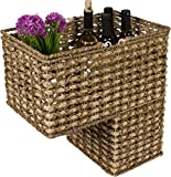 """16"""" Braided Rope Storage Stair Basket With Handles by Trademark Innovations"""