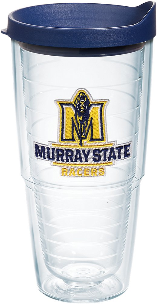 Tervis 1182831 Murray State Racers Logo Tumbler with Emblem and Navy Lid 24oz, Clear
