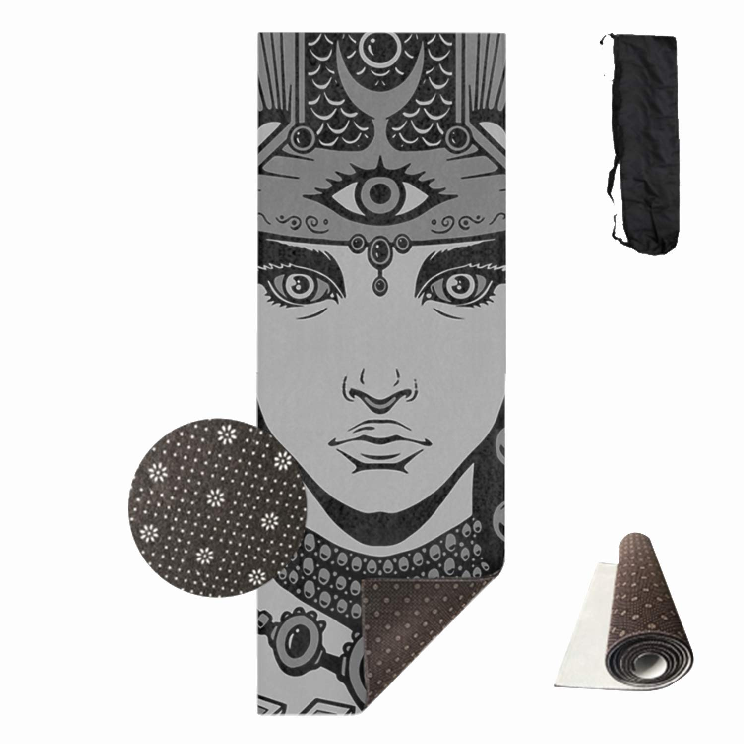 HHNYL Goddess Yoga Mats Luxuriously Soft, Printed, Non-Slip, Eco Friendly Yoga Mat