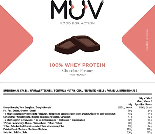 Muv food for action Whey Protein Chocolate Flavour 1000 g