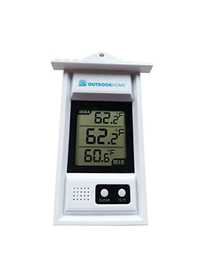 Amazon.com : DIGITAL MIN MAX THERMOMETER by Outdoor Home. Perfect ...