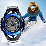 eYotto Kids Boys' Wrist Watches Waterproof Analog Date Alarm Digital Quartz Sports Watches + EL Backlight