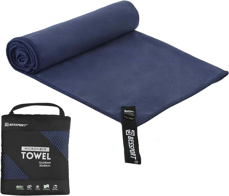 Bessport Toalla Microfibra//Secado r/ápido,Superabsorbente,Ultraligera y compacta,Ideal para Gimnasio,Yoga,Camping,Viajes,Playa,Vacaciones.