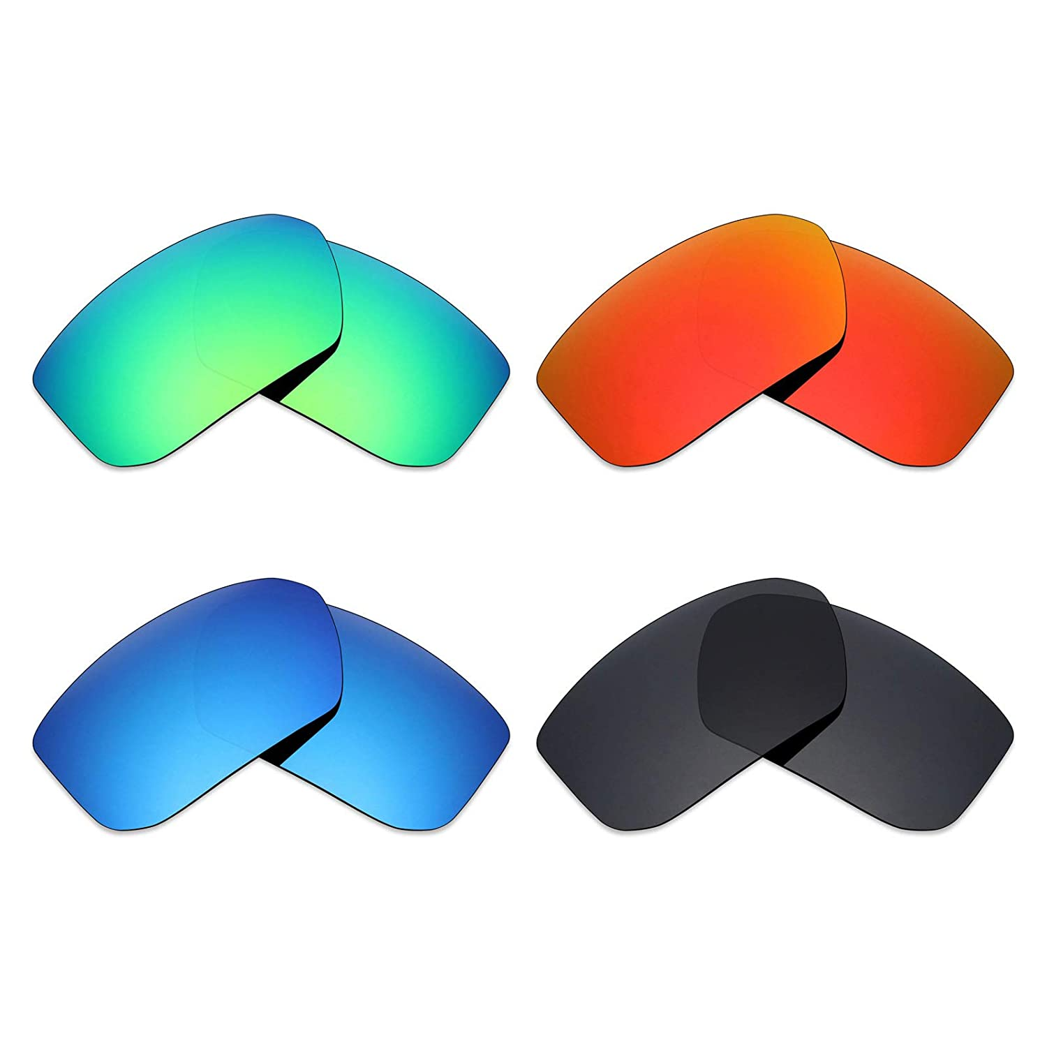 Stealth Black//Fire Red//Ice Blue//Emerald Green Mryok 4 Pair Polarized Replacement Lenses for Spy Optic Mccoy Sunglass
