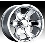 Pacer Warrior 17x8 Polished Wheel / Rim 6x135 with a 25mm Offset and a 87.00 Hub Bore. Partnumber 187P-7863