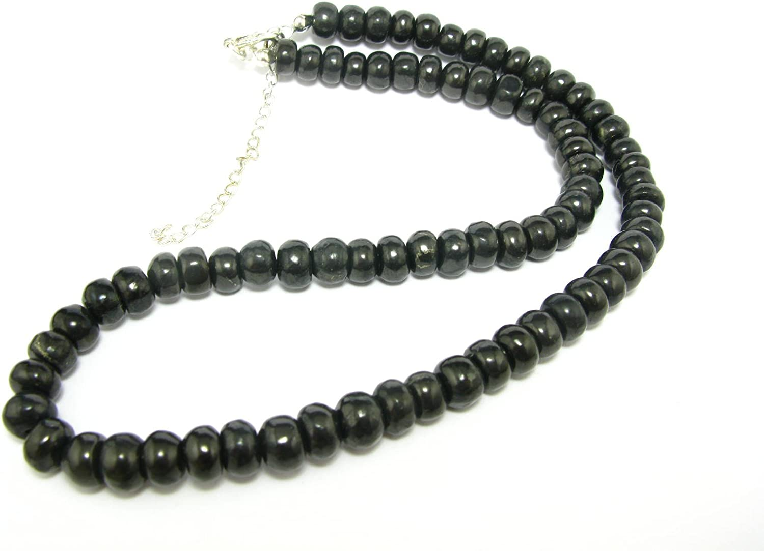 19 Shungite Necklace Beads From Russia Rondelle Beads