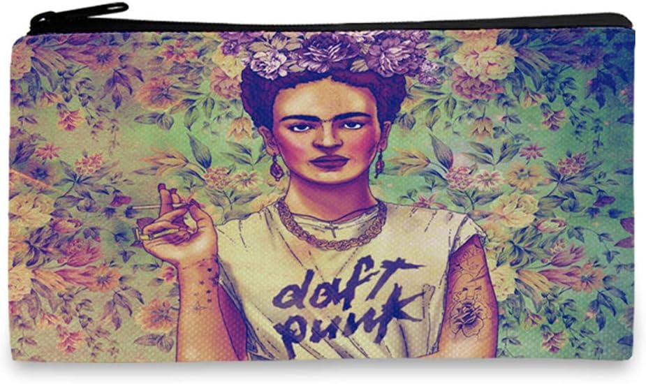 Frida Gifts Trousse /à crayons en toile Sac de rangement pochette pour t/él/éphone portable 18cm x 10.5CM D porte-monnaie