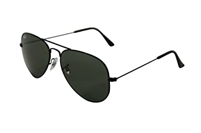 6897dd8c49 Image Unavailable. Image not available for. Colour: Ray Ban RB3025 Black Aviator  Large Metal