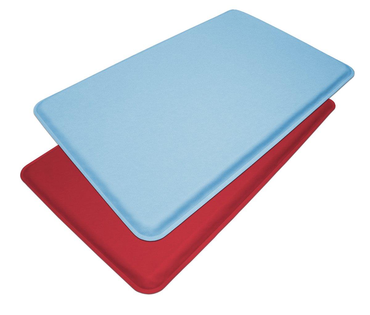 "GelPro Medical Anti-Fatigue Mat: Standing Anti-Fatigue Floor Mat - Non Slip Heavy Duty Professional Mats - Ergonomic Cushioned Comfort Pad - 20"" x 48"" - Columbia Blue by GelPro (Image #5)"