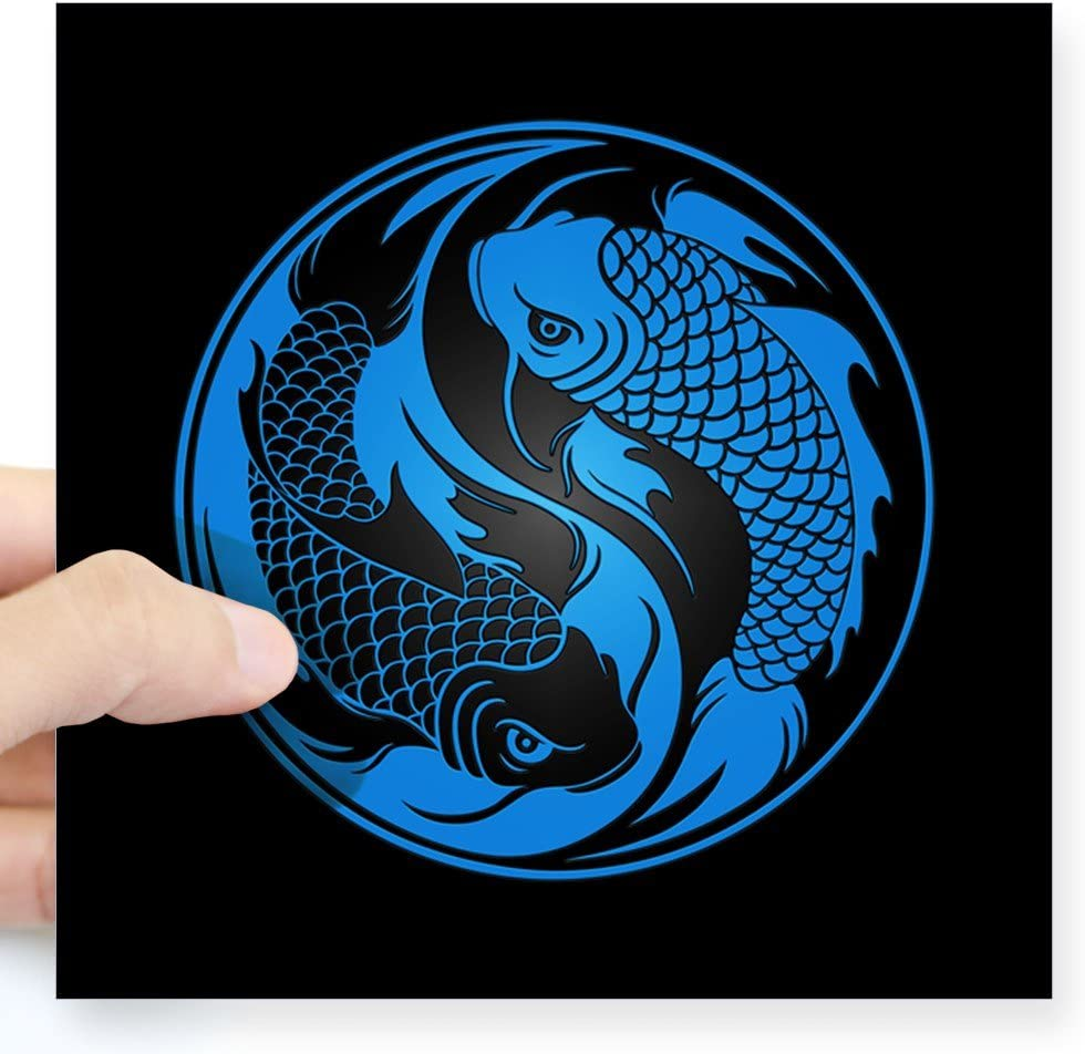 Decals Stickers Vinyl Art Koi Fish Yin Yang Vinyl Sticker Select Size Home Garden