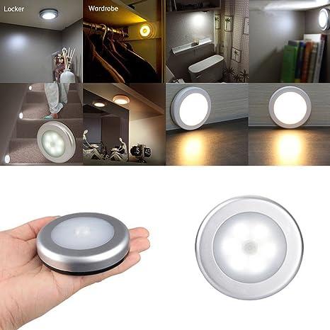 scoolr Sensor de movimiento funciona con pilas, AAA LED PIR Cuerpo movimiento Sensor de luz
