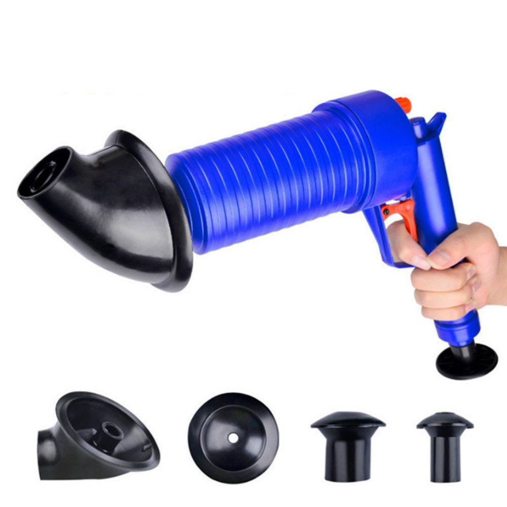 Tulas High Pressure Air Drain Blaster Pump Plunger Sink Pipe Clog Remover Toilets Bathroom Home Tool