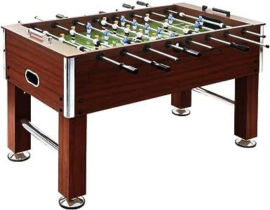 vidaXL Futbolín de Acero 60 kg 140x74,5x87,5 cm Marrón Equipos Juegos Interior: Amazon.es: Deportes y aire libre