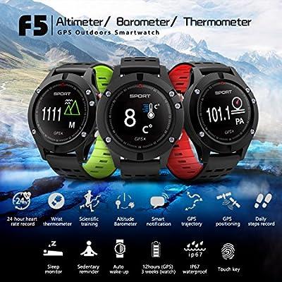 Reloj inteligente, Reloj deportivo con altímetro barómetro termómetro y GPS incorporado, rastreador de fitness para correr, senderismo y