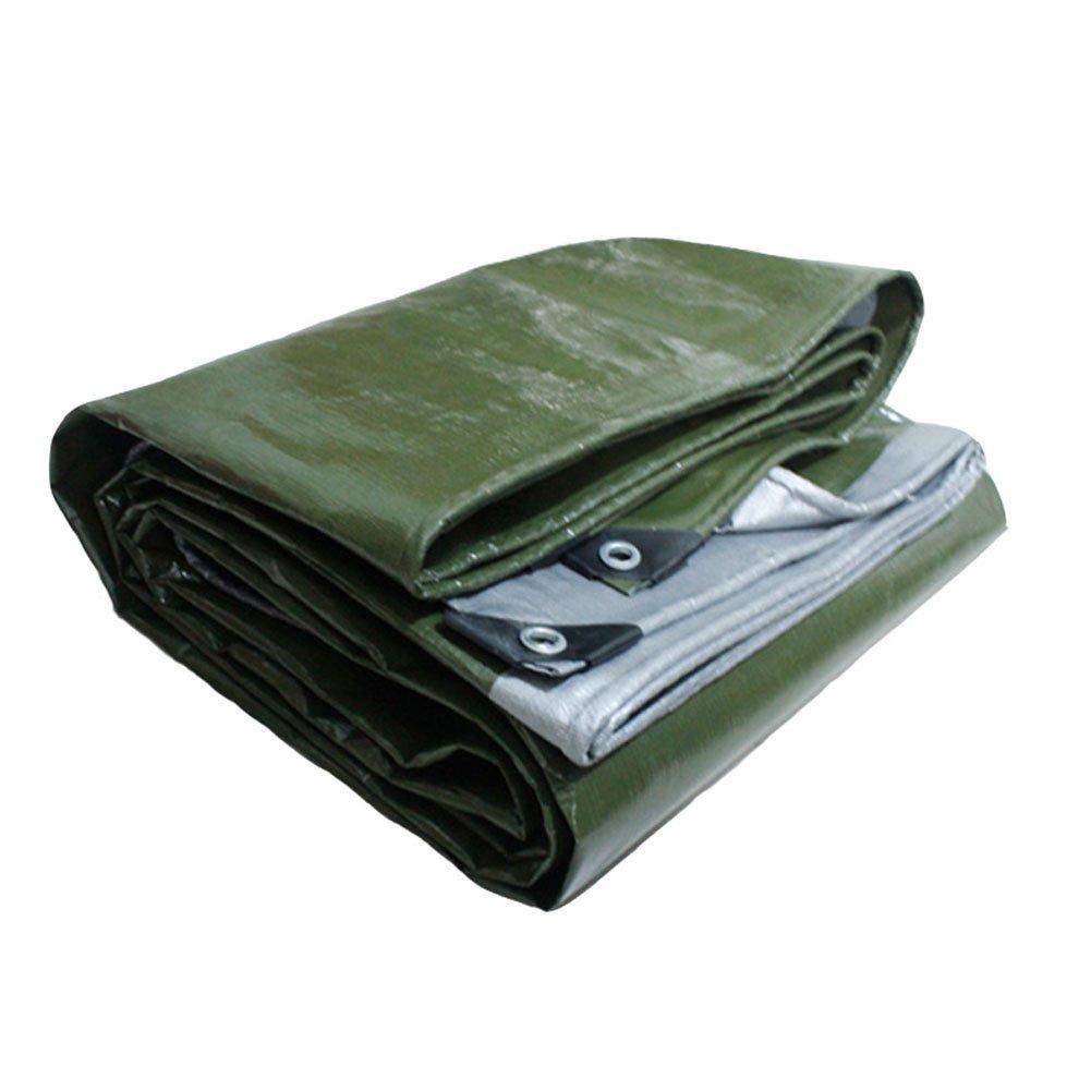 CHAOXIANG オーニング 厚い 防雨 耐高温性 耐摩耗性 耐食性 老化防止 光 PE 緑、 180g/m 2、 厚さ 0.35mm、 22サイズ (色 : 緑, サイズ さいず : 6×6m) B07D2ZNPNL 6×6m|緑 緑 6×6m
