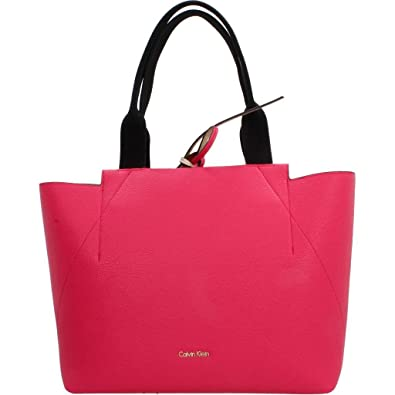 9dfefb766c5 Calvin Klein Womens Is4 Metallic Large Reversible Tote Tote Red (Bright  Rose)