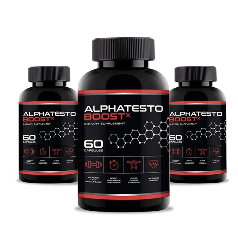 Alphatesto Boost X Capsules/Pills for Men - 3 Bottles 180 Capsules (90 Days Supply)