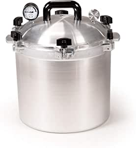 All American 921 Canner Pressure Cooker, 21.5 qt, Silver