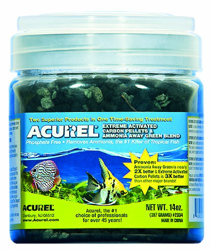 Acurel LLC Extreme Activated Carbon Pellets and Green Blend Aquarium and Pond Filter Accessory, 14-Ounce