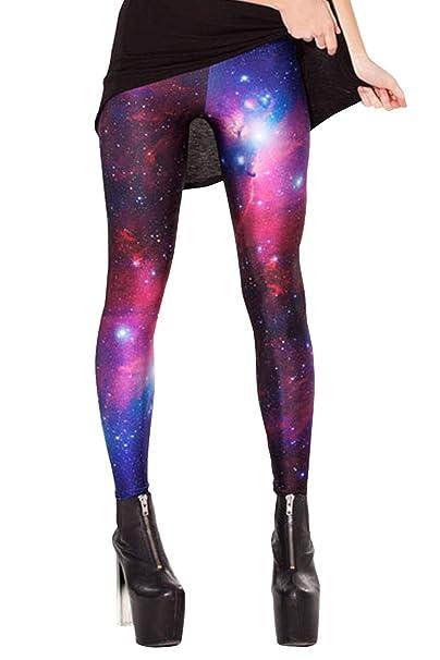 Mujer Leggings Mallas de Yoga Galaxia Impresas Estiramiento Estrella Pantalones Elástico Cintura Alta Medias