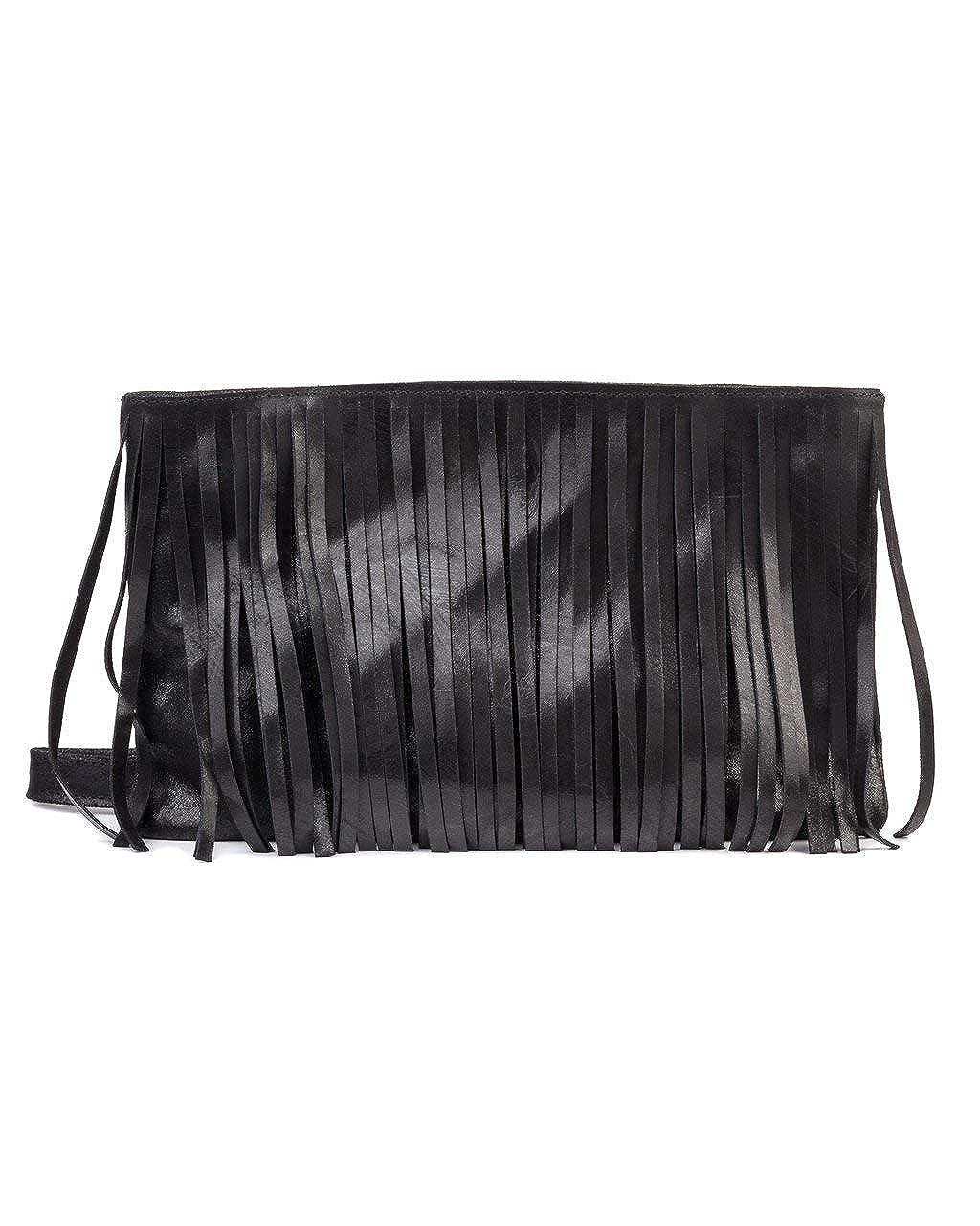 7c0dc0c25b0f CoFi Handmade Genuine Leather Azzie Fringe Bag - Over 15 Unique Patterns