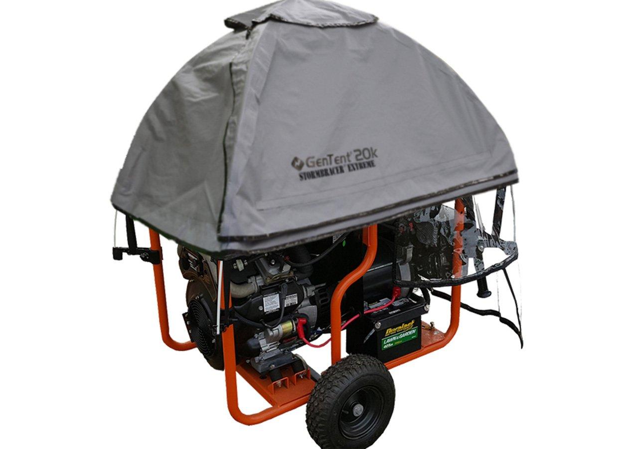 GenTent 20K Generator Tent Running Cover (Extreme, GreySkies) Compatible with Generac GP12500 - GP17500 Generators