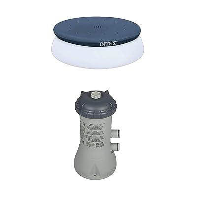 Intex 10' Swimming Pool Debris Cover & 1000 GPH Pool Cartridge Filter Pump : Garden & Outdoor