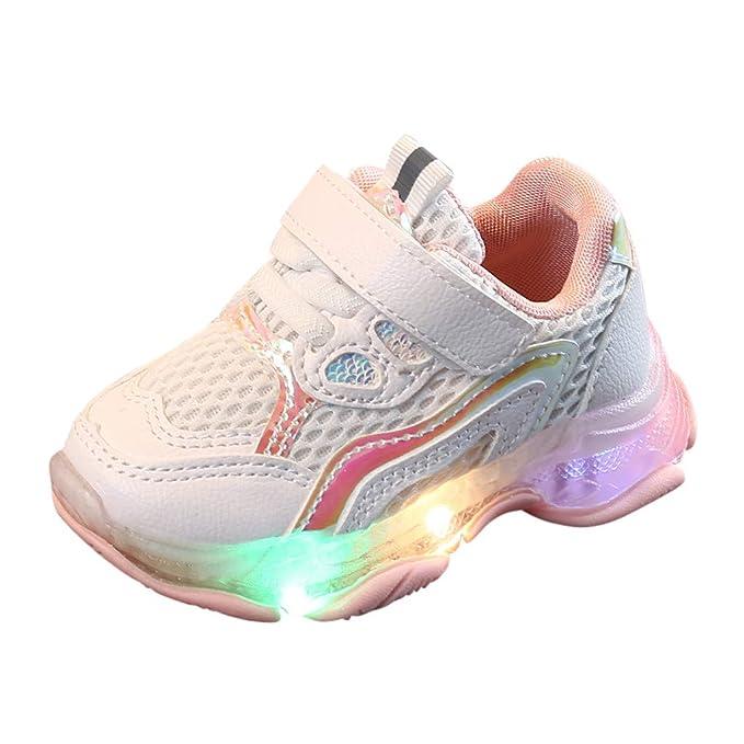 Amazon.com: Zapatillas de deporte para niños y niñas con luz ...