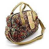 BLUBOON Women Bags Crossbody Bags Fashion Girls Vintage Floral Printed Handbag Canvas Schoolbag Travel Shoulder Bag Leisure shopping Handbag