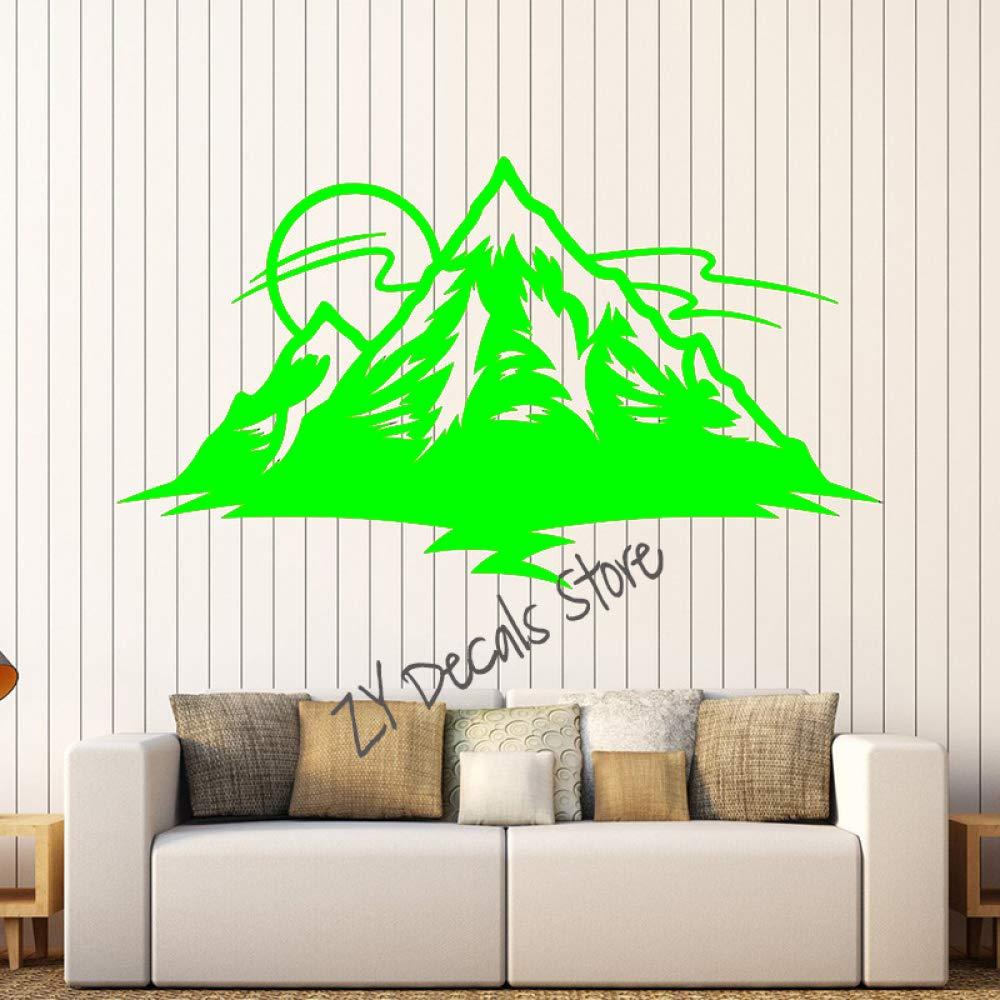 Tatuajes de pared Sol con Montaña Naturaleza Isla Vivero Niños ...
