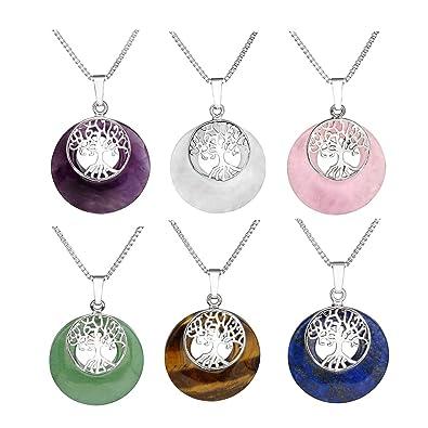 Amazon.com: CrystalTears - Collar con colgante de cristal ...