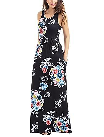 Racerback maxi dresses for women
