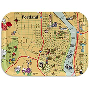 "Portland Map Tray / Breakfast Tray, Decorative Serving Tray, 11""x8"" Portland Tray, 100+ different designs"