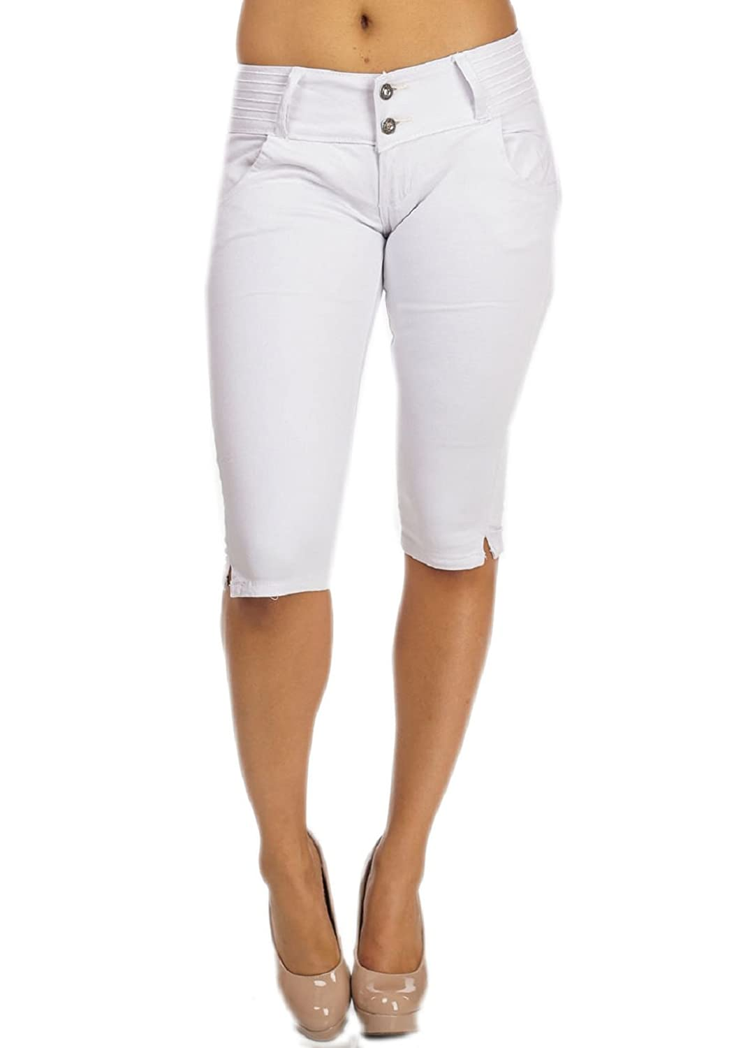 outlet Women's White Capris Shorts - hammerheadprotection.com