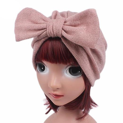 Amazon Com Botrong Children Baby Girls Boho Hat Bow Tie Beanie