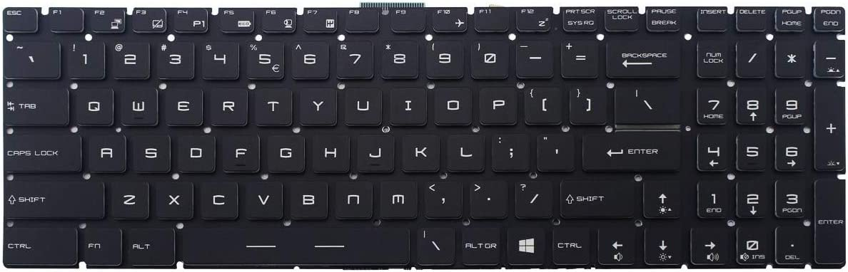 AUTENS Replacement US Blacklight Keyboard for MSI GS60 GS63 GS63VR GS70 GS72 GT62 GT62VR GT72 GT73VR GE62 GE62VR GE63 GE72 GE73 GE73VR PE60 PE62 PE70 GL62 GL72 GP62 GP72 WS60 WS70 WS72 Laptop