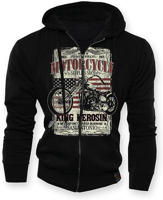 King Kérosène hoodie san antonio Zip Black