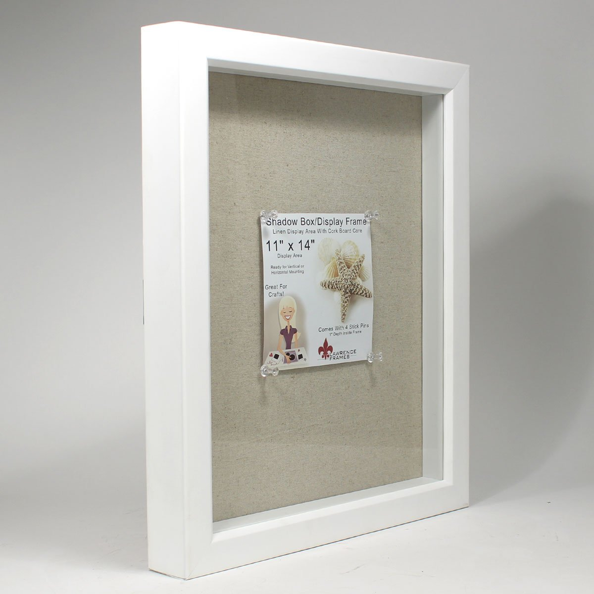Amazon.com - Lawrence Frames Shadow Box Frame with Linen Inner ...