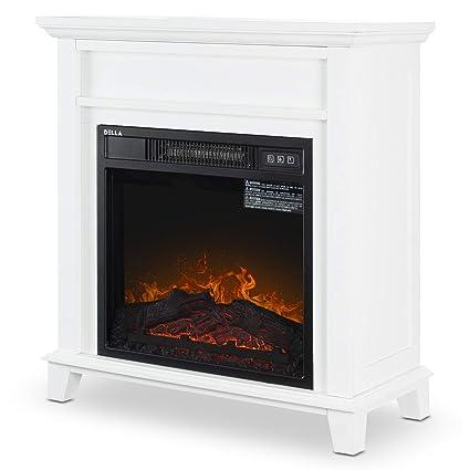 Amazon Com Della 18 Electric Fireplace Freestanding Mantel Firebox