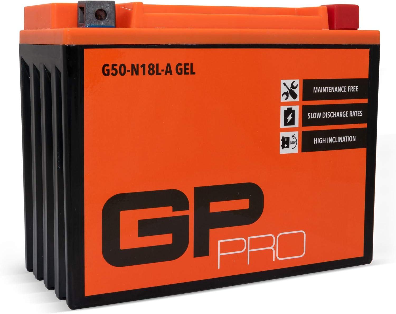 semblable /à Y50-N18L-A // YTX24HL-BS Sans entretien // Scell/é Moto Accumulateur pour p.ex GP-PRO G50-N18L-A 12V 21Ah GEL Batterie de d/émarrage Harley Davidson