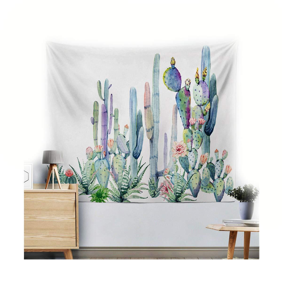 Miguor Fibre de polyester dacron Chiffon Cactus plantes artificielles Tapisserie Drap de plage Beach Sit Couverture D/écoration de la Maison 150cm 9.yellow Cactus 200