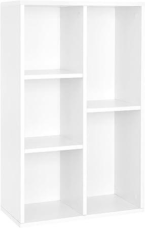VASAGLE Estantería para Libros con 5 Compartimientos, Estantería de Archivo, Estante de Pared, Estantería de pie, 50 x 24 x 80 cm (Largo x Ancho x ...