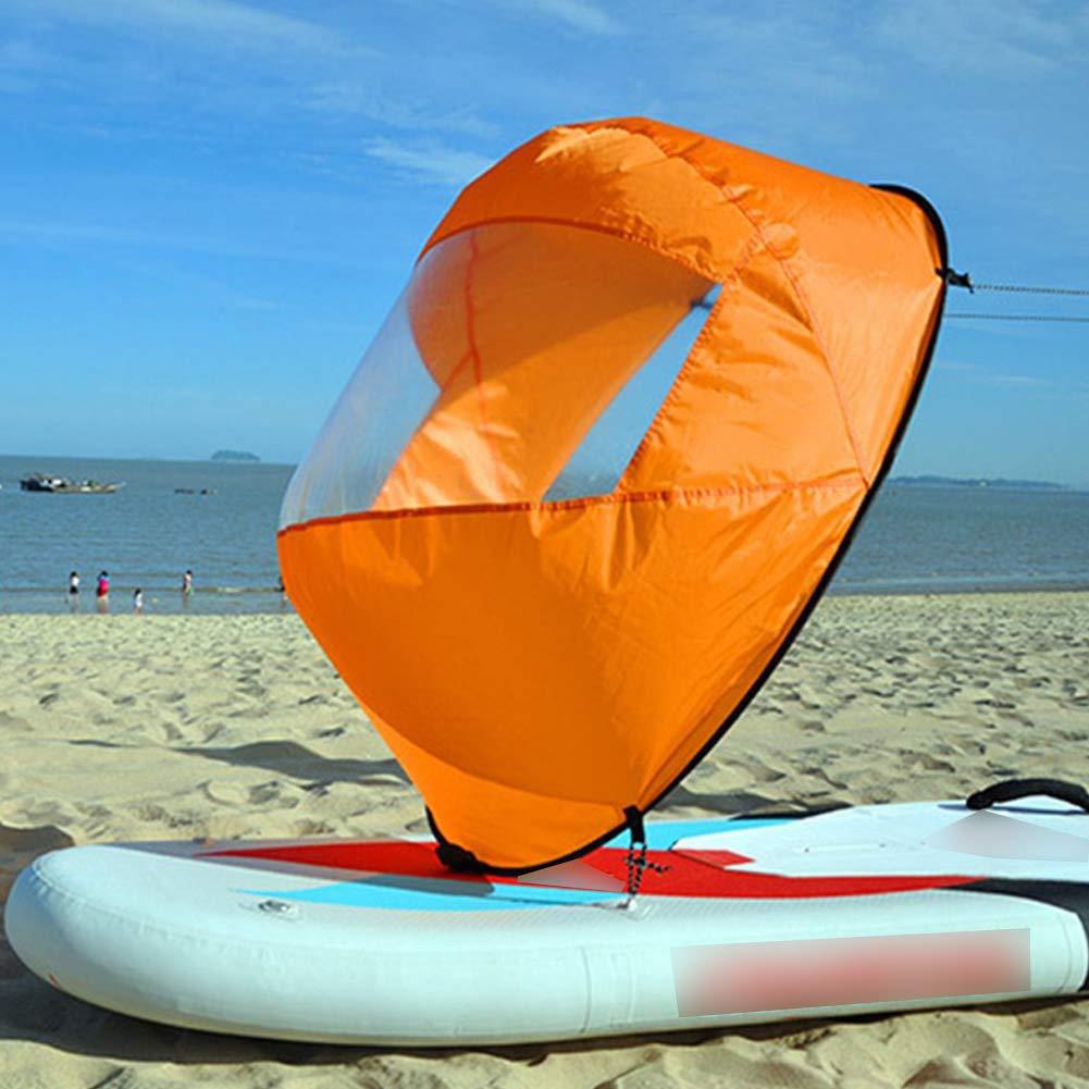 Kanus Schlauchboote Kajaks Rat CDKJ Klar Kajak Tandem von Wind-Segel Windrichtung Paddel Kanu Faltbare Schlauchboote Zubeh/ör f/ür Kajaks