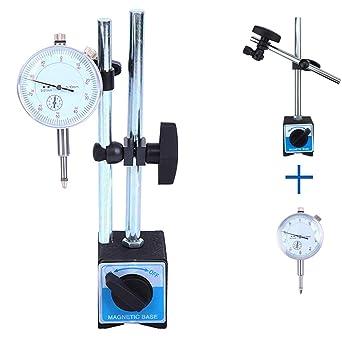 Yonntech Reloj comparador métrico Indicador de prueba de dial reloj de precisión 0-10 mm