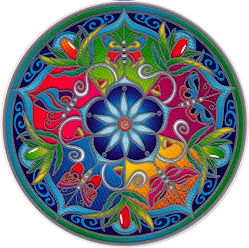 Illumination Mandalas Wildflower Mandala - Stained Glass Window Art Sticker/Decal (5.5