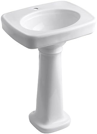 Kohler K 2338 1 0 Bancroft Pedestal Bathroom Sink With Single Hole