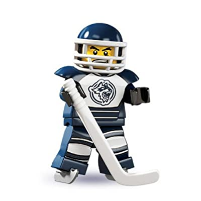 LEGO Series 4 Collectible Minifigure Hockey Player: Toys & Games